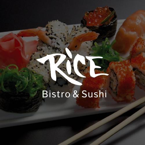 RICE – bistro sushi logo identyfikacja