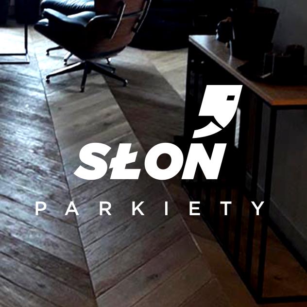 Słoń Parkiety – logo, branding, identyfikacja wizualna